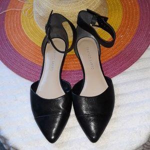 Franco Sarto Black Leather Flats